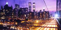 Vista nocturna Nueva York