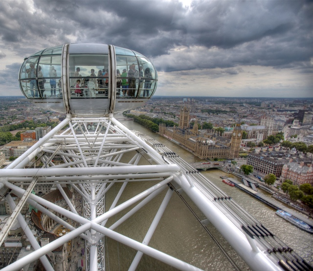 La noria London Eye en Londres