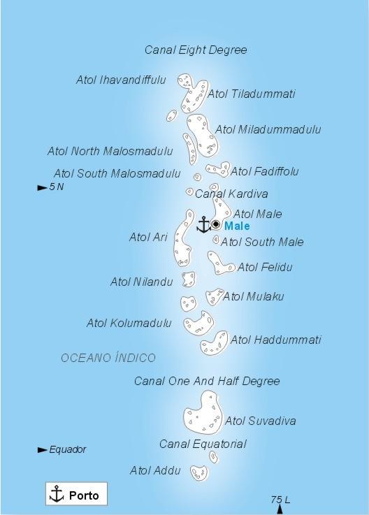 Islas Maldivas Mapa | Felices Vacaciones