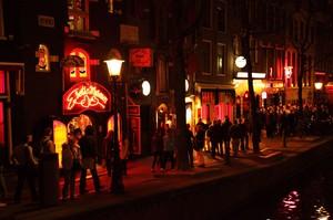 Barrio rojo en Amsterdam. Barrio de trabajadoras sociales