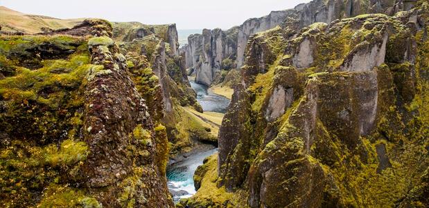 Las placas tectónicas del Parque Nacional de Thingvellir en Islandia