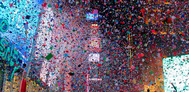 Festejo de fin de año en Times Square de Nueva York