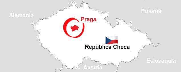 Ubicación de Praga