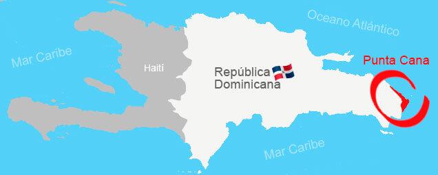 Dónde está ubicada Punta Cana en la República Dominicana