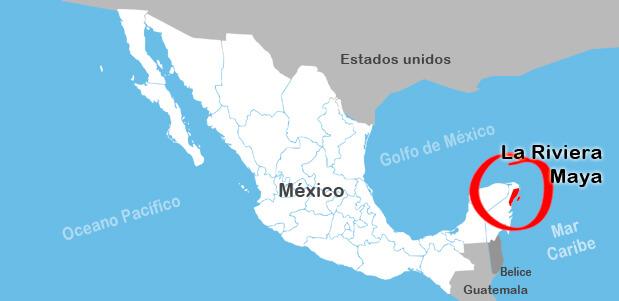 La Riviera Maya y su ubicación en el mapa