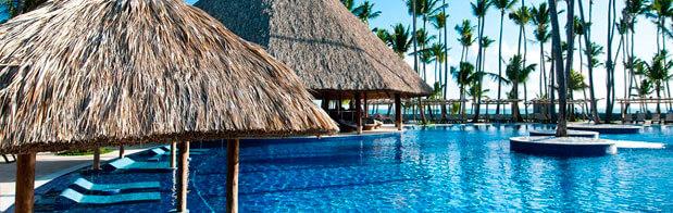 Las piscinas del Hotel Barceló en Punta Cana
