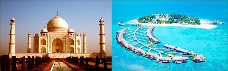 Luna de miel India y Maldivas