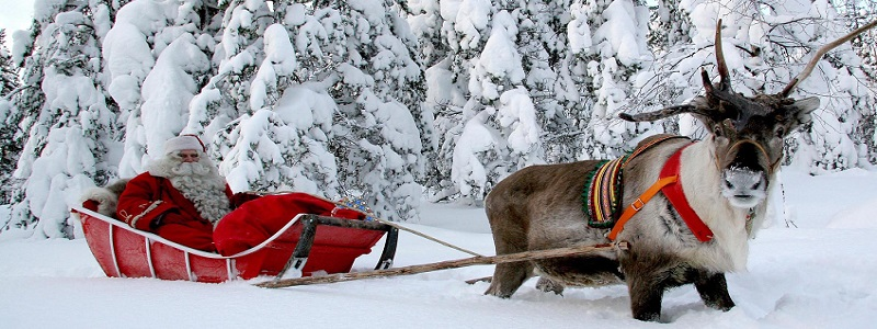 Viaje a Laponia, cabañas de Papá Noel