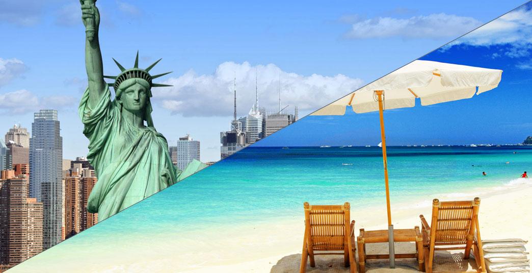EEUU y el Caribe<br />Combina ciudad y playa