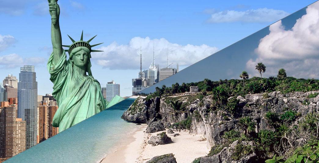 Combinado Nueva York y Riviera Maya