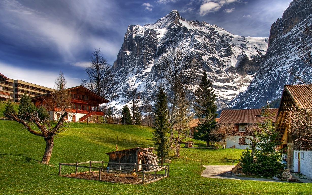 Paisajes hermosos de suiza