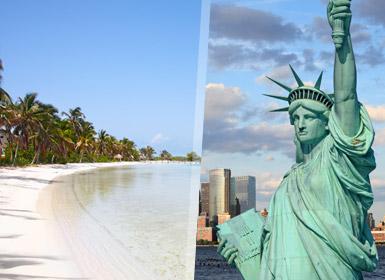 Viaje combinado Nueva York Caribe