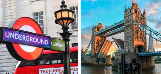Puente de diciembre en Londres en oferta